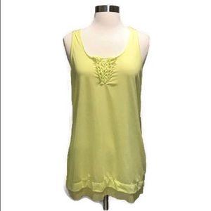 Nanette Lepore Athleisure wear tank lemon yellow M
